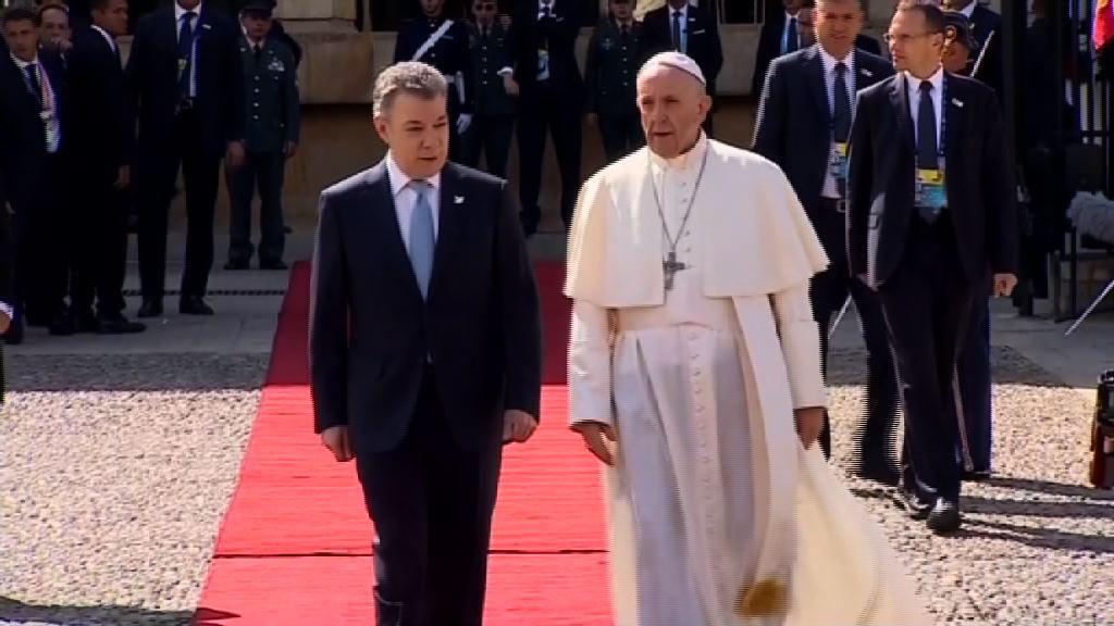 教宗訪問哥倫比亞 籲社會消除分歧