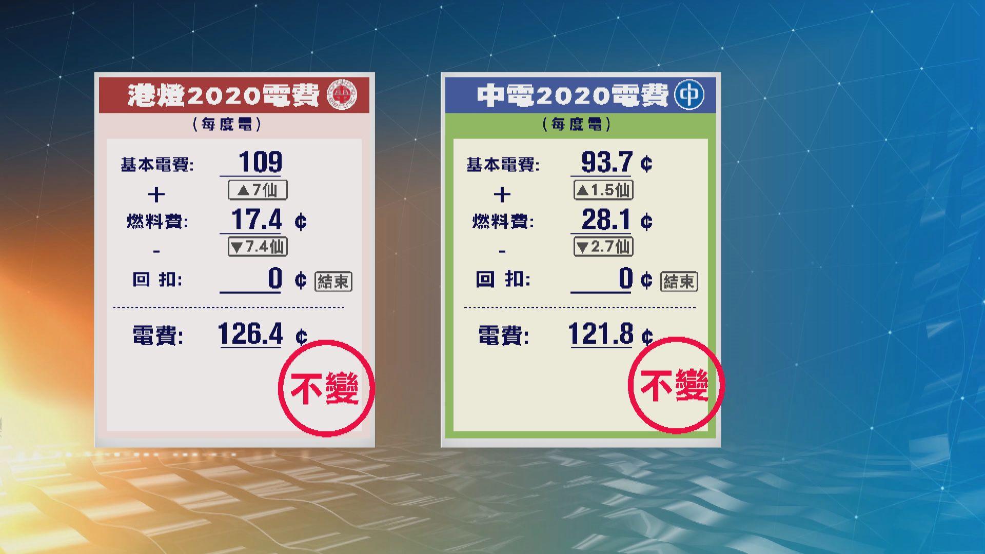 中電港燈明年凍結淨電費