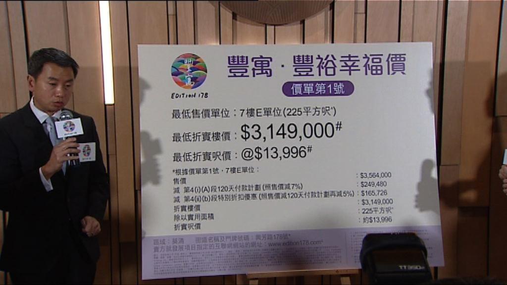 【定價進取】葵涌豐寓首批折實呎價1.6萬