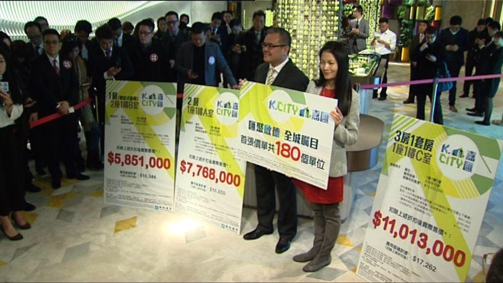 【下周推售】嘉匯首批180伙折實呎價近1.8萬