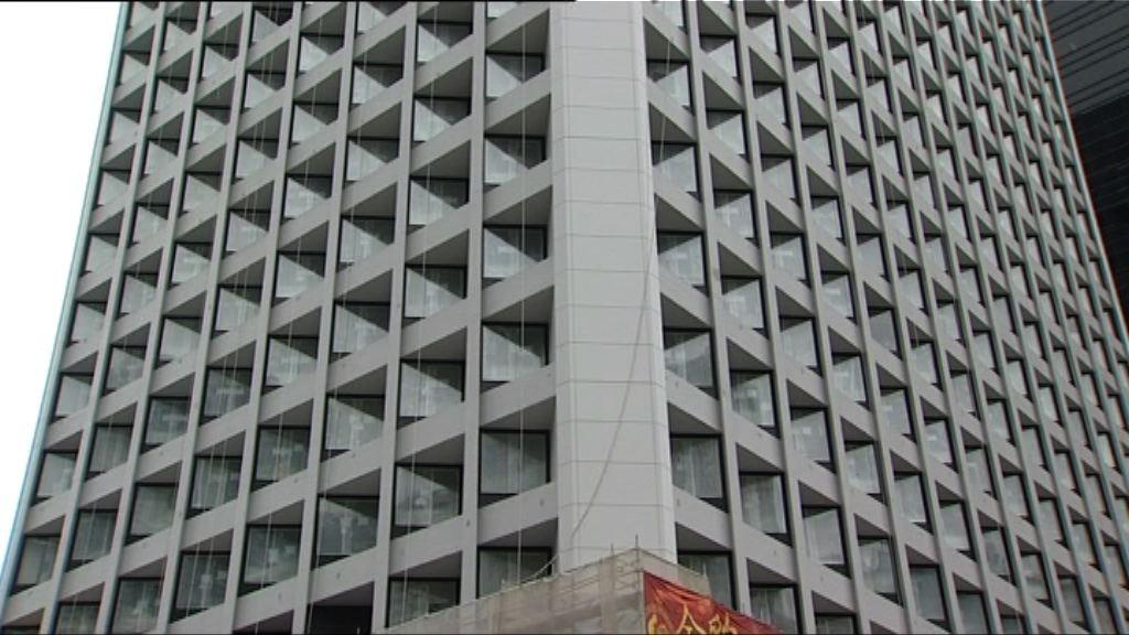 美利大廈酒店今年10月底開業