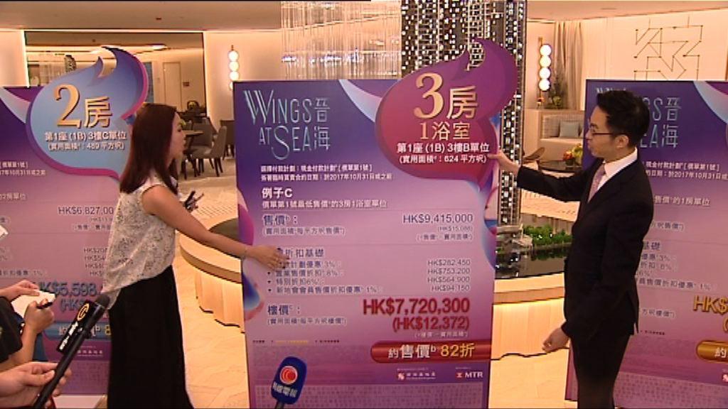 【最快下周開售】晉海首批折實均價貴絕康城