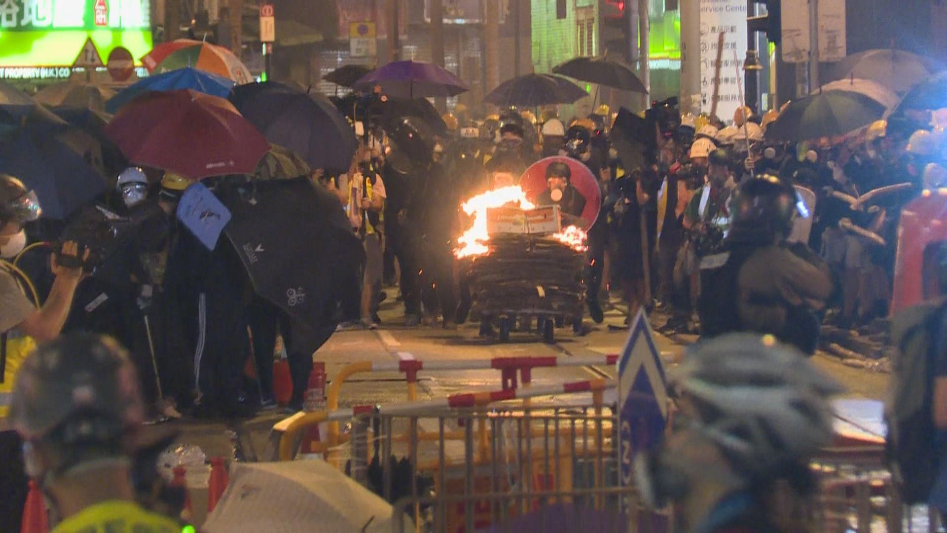 反修例衝突 示威者裝備明顯加強