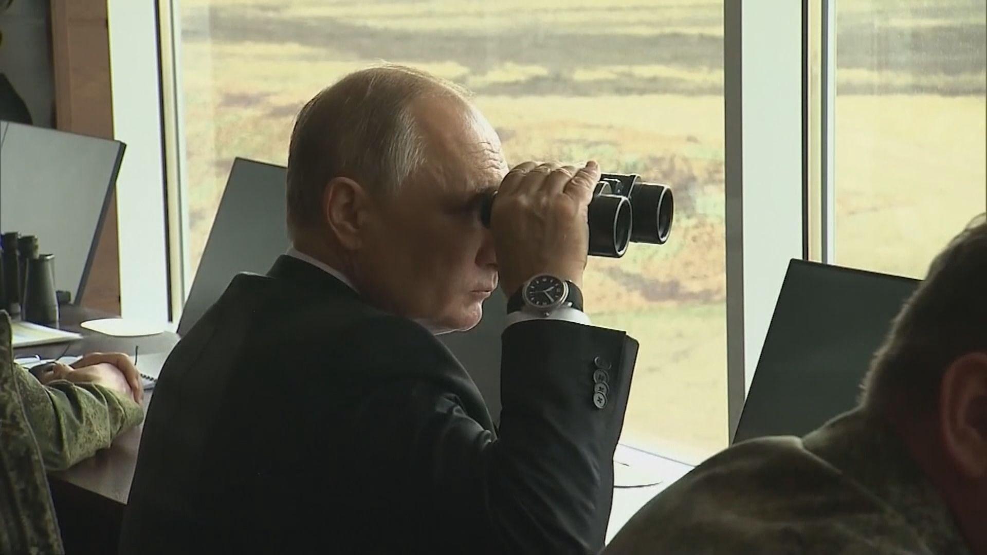 普京出席大型軍演模擬中亞地區安全威脅