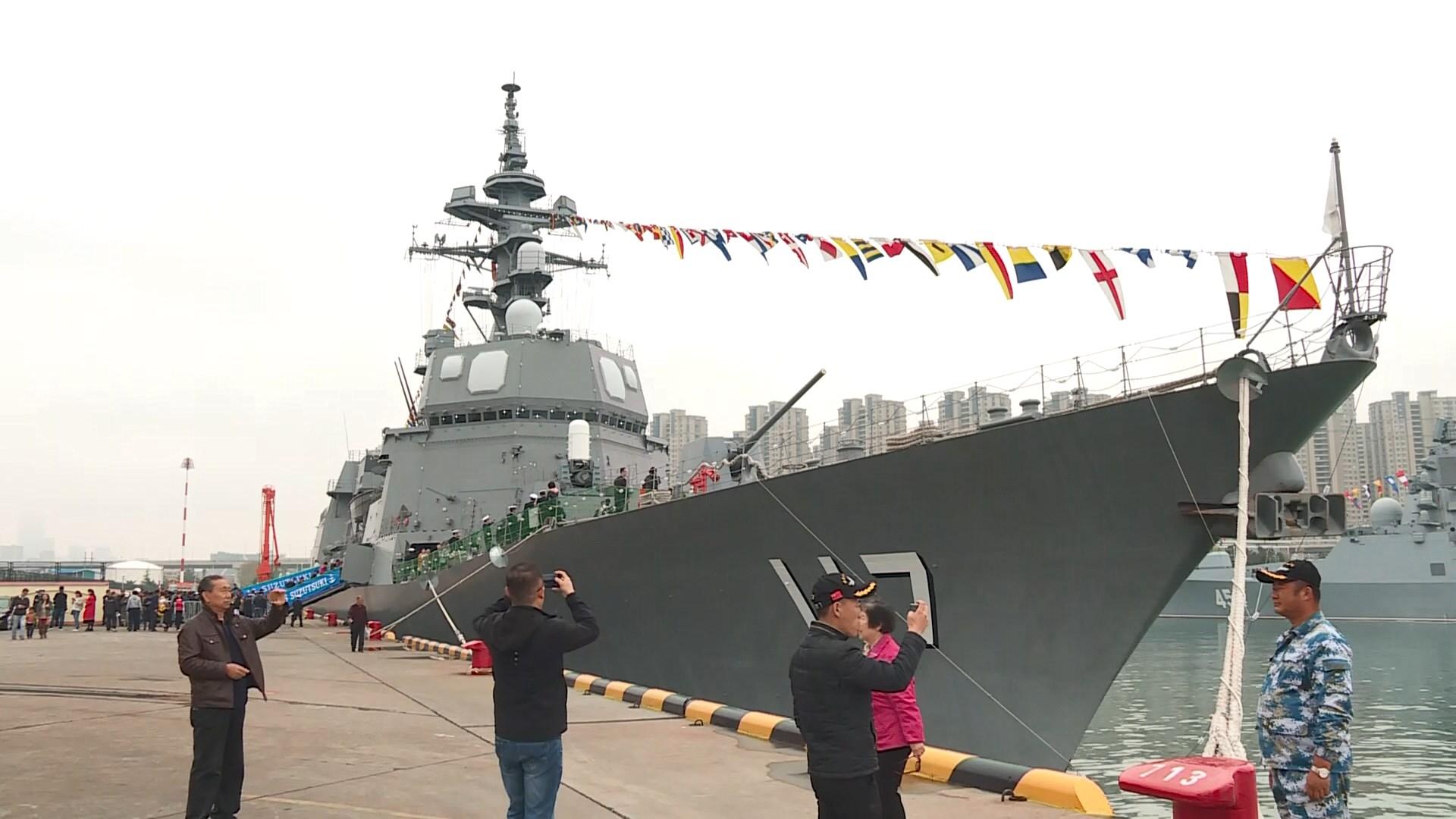 中國海軍在青島港舉行外國艦艇開放日 Now 新聞