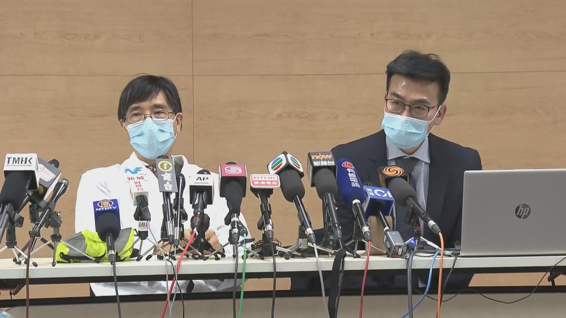 醫管局指採購的外科口罩足夠預防短時間接觸病人