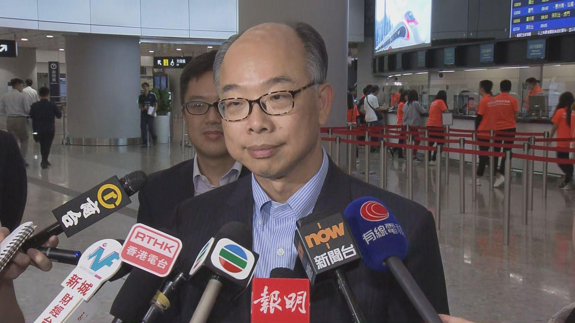 陳帆:西九站香港範圍WiFi資料不會轉給他人