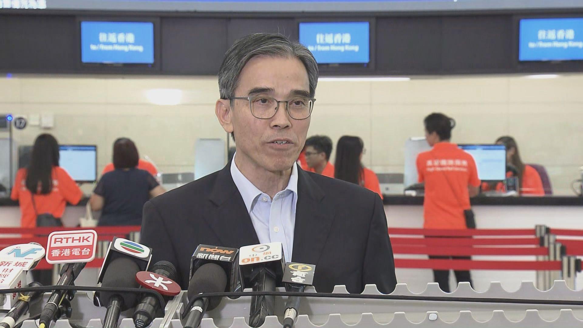 劉天成:相信高鐵乘客會愈來愈多