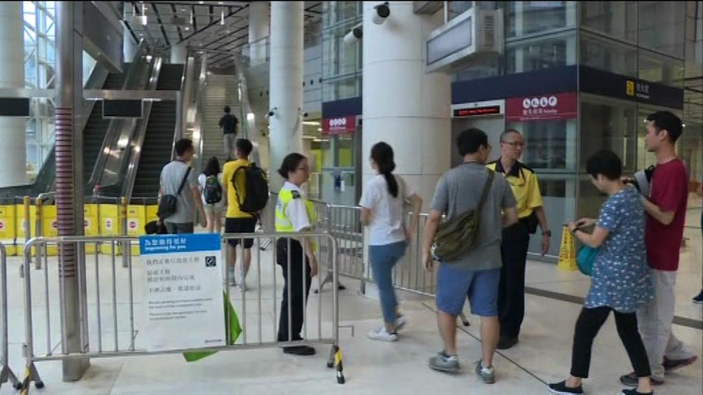 港鐵員工到高鐵西九龍站演習通車後安排