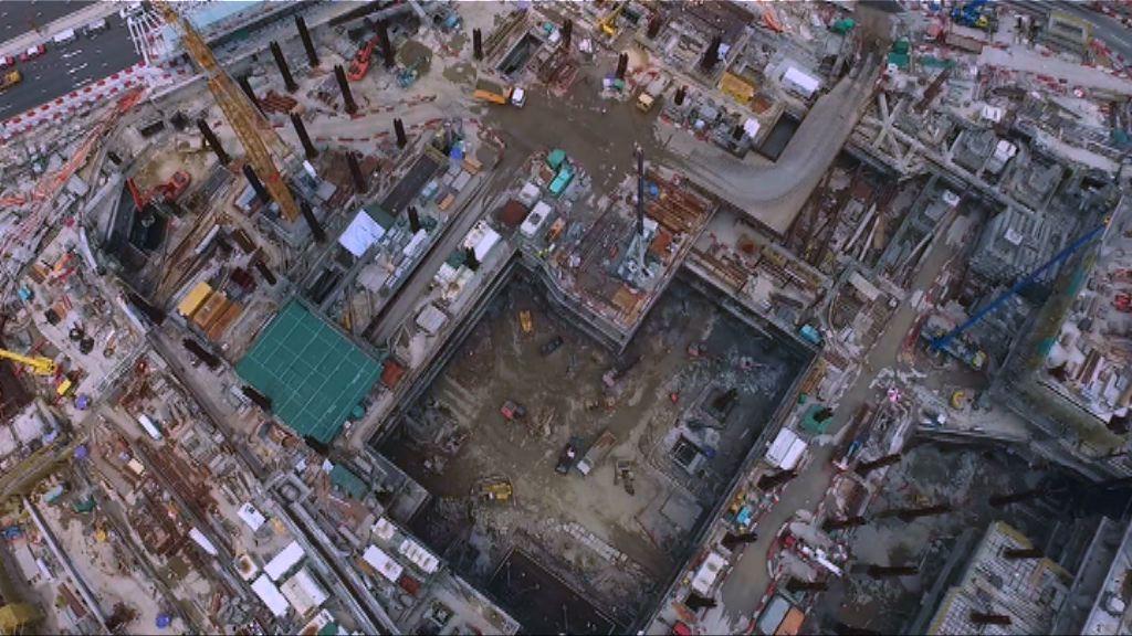 高鐵西九總站幕牆裝配工程較預期滯後