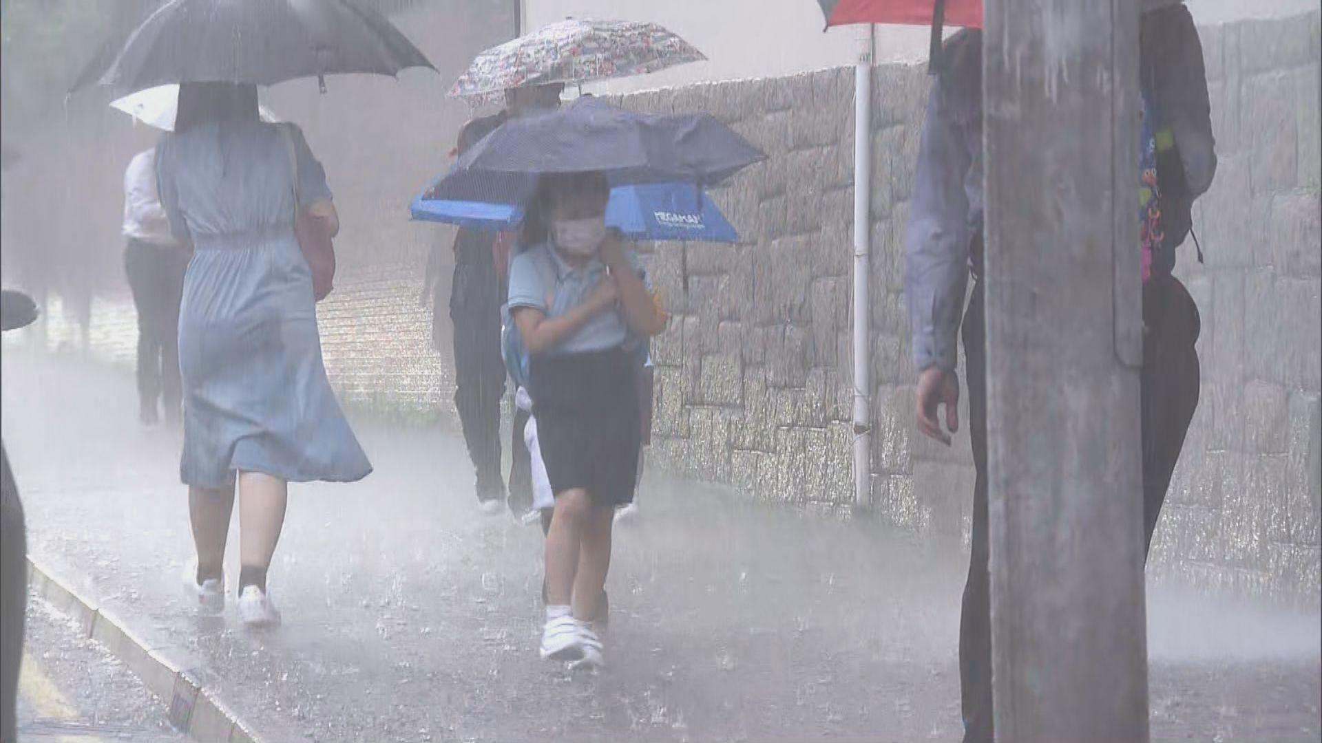 黃色及紅色暴雨警告一度生效 九龍區一度水浸