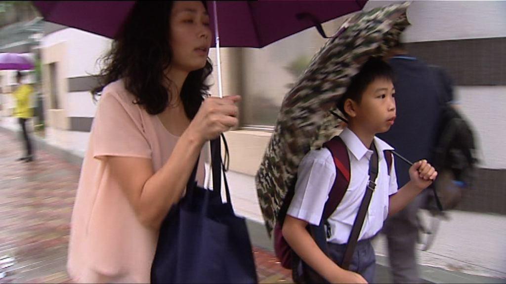 教育局承認發紅雨時間尷尬
