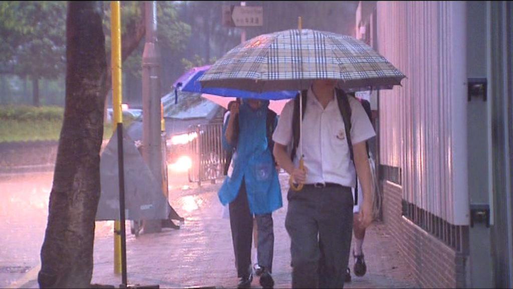 天文台兩度發紅雨警告 大雨持續