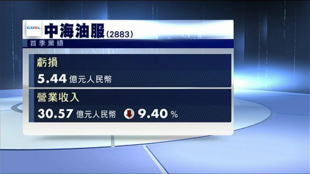 【業績速報】中海油服首季虧損按年收窄