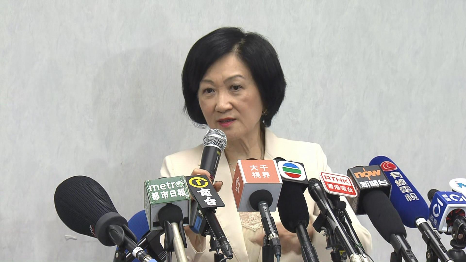 葉劉淑儀:田北俊在政壇失勢 有酸葡萄心態