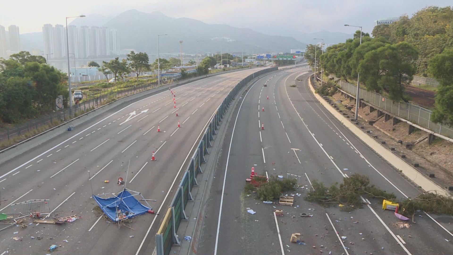 吐露港公路、紅隧來回線仍封閉
