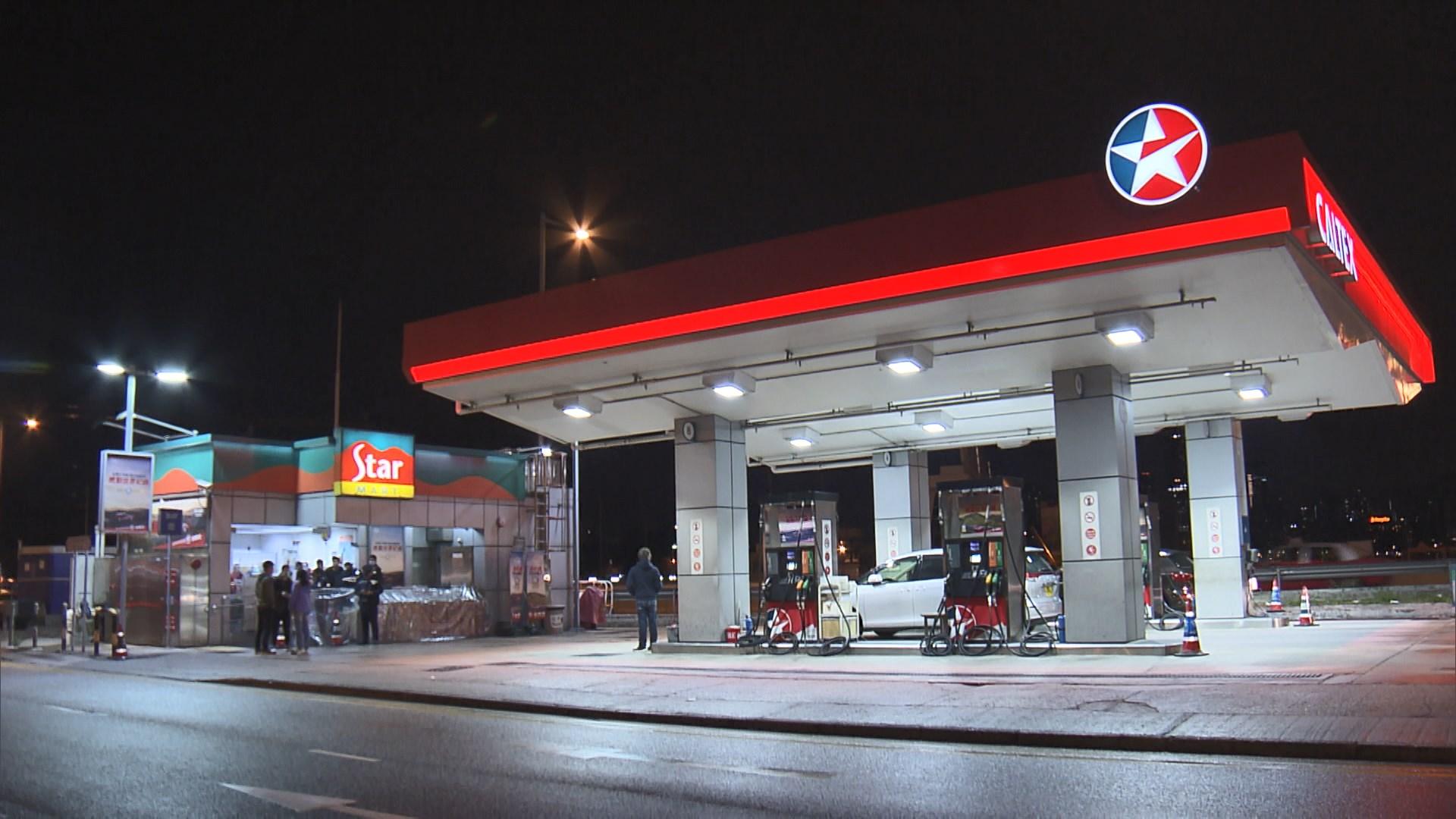 銅鑼灣油站被獨行賊持槍打劫