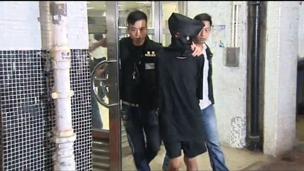警方旺角拘一漢涉行劫及非禮