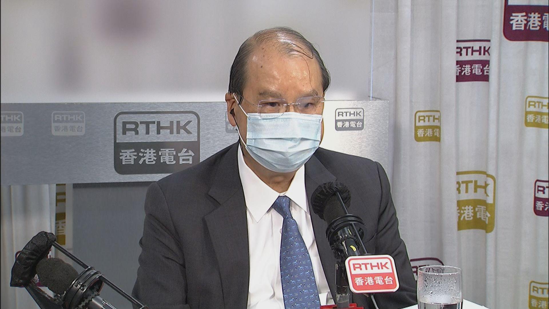 張建宗:有議員在施政報告發布時打瞌睡 只屬個別事件