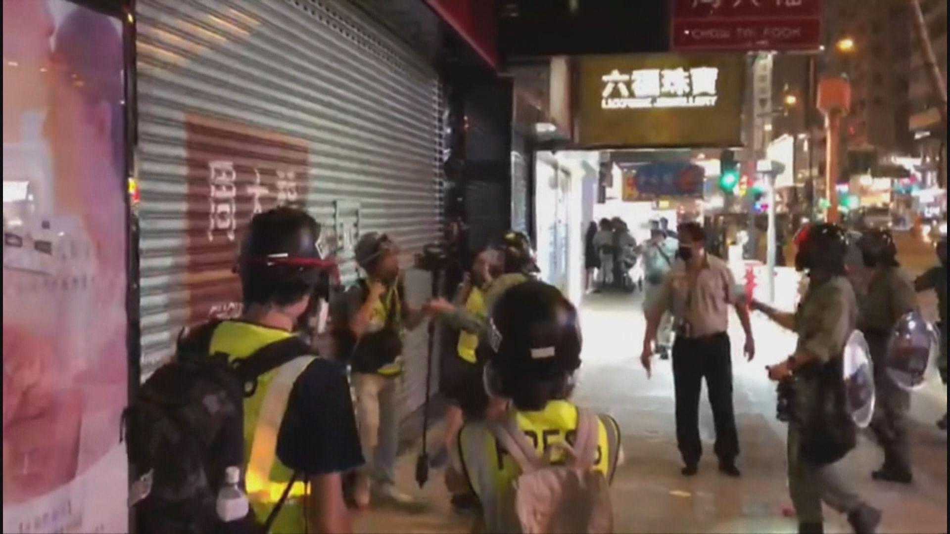 港台強烈譴責警方粗暴干預記者正常採訪