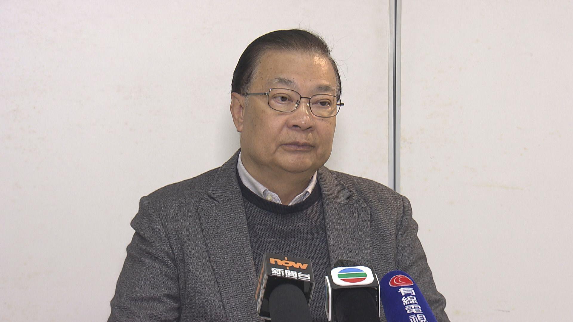 譚耀宗:未收通知常委會將審議港區國安法