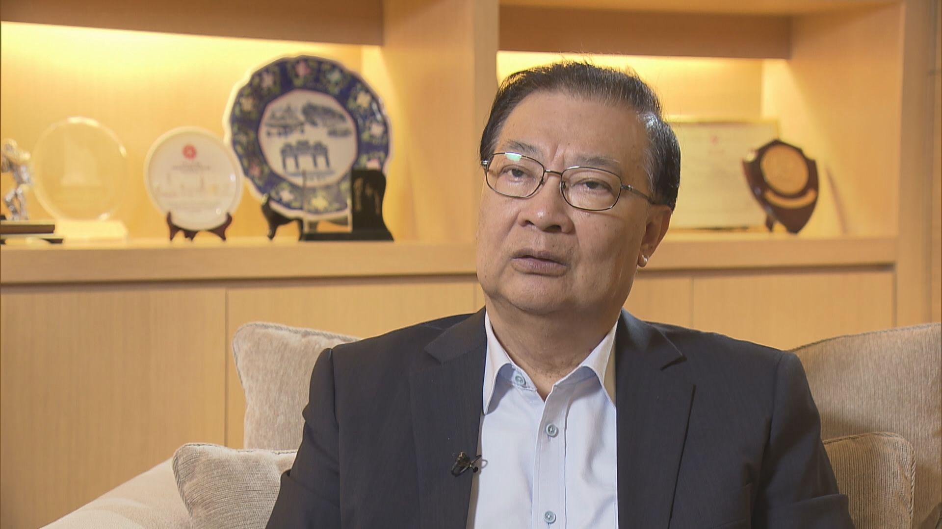 譚耀宗:選委會總召集人地位較特首「超然」