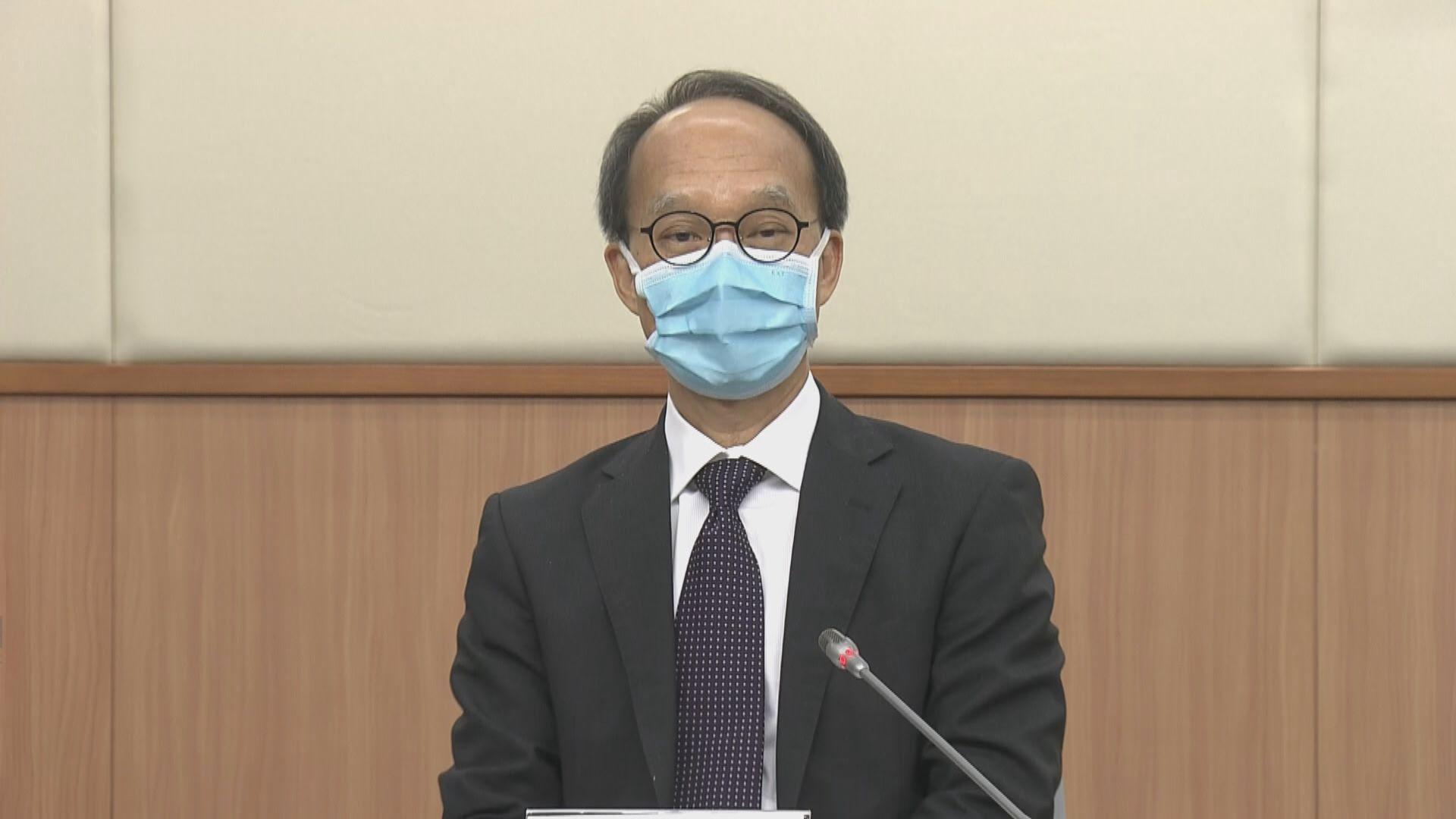 劉宇隆期望未來一至兩周開始接種第三針新冠疫苗