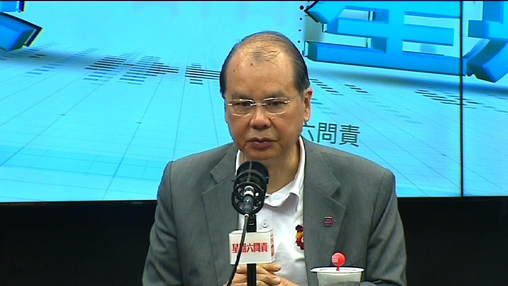 張建宗不評論蔡若蓮是否任副局長