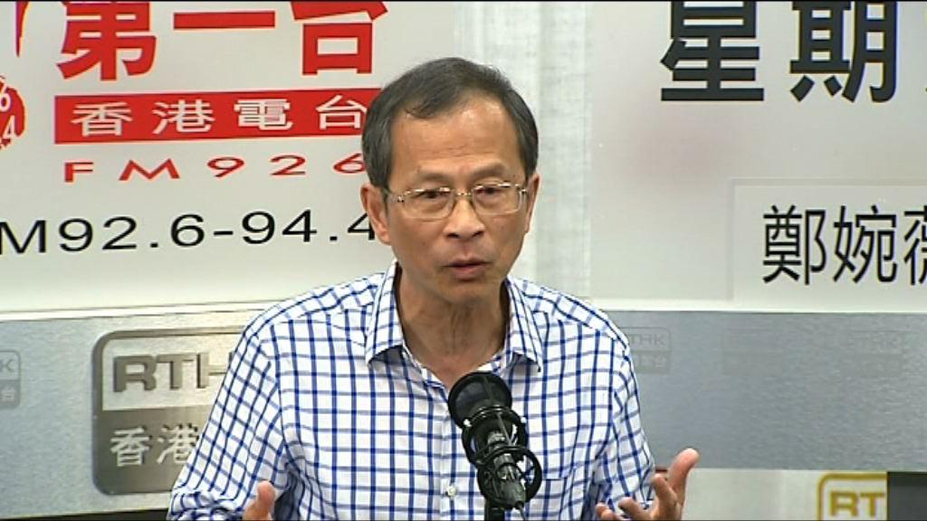 曾鈺成:政府有責任向市民解釋一帶一路