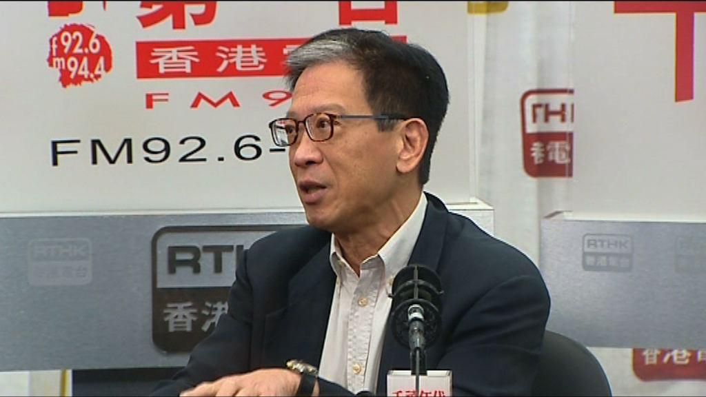 胡漢清:港府中央處理港獨議題無工作關係