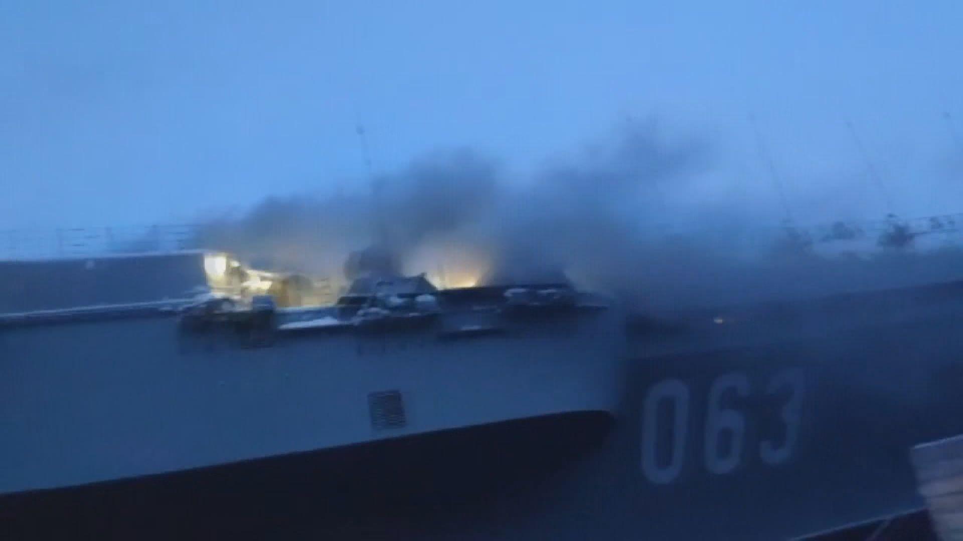 俄羅斯航空維修起火十人傷