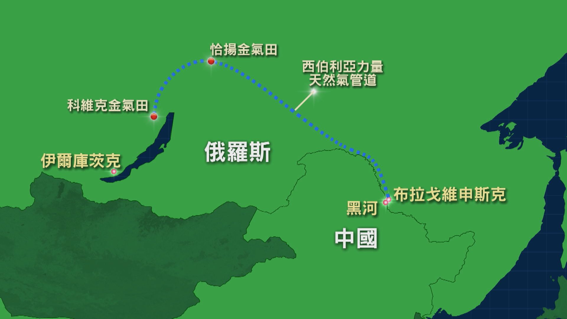 中俄東線天然氣管道正式開通