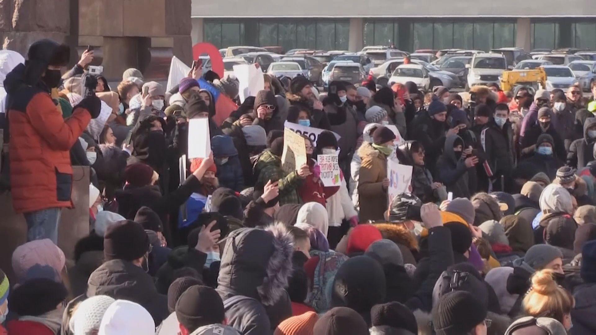 俄羅斯多地示威促釋放納瓦爾尼 最少3000人被捕