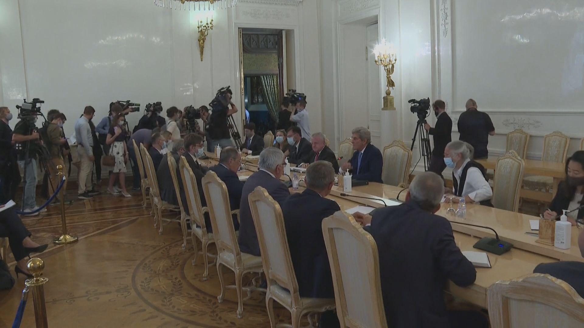 美氣候問題特使克里與俄外長拉夫羅夫會面
