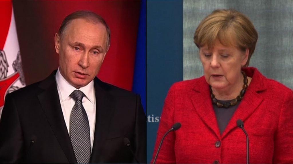 普京親自宣布默克爾五月訪俄