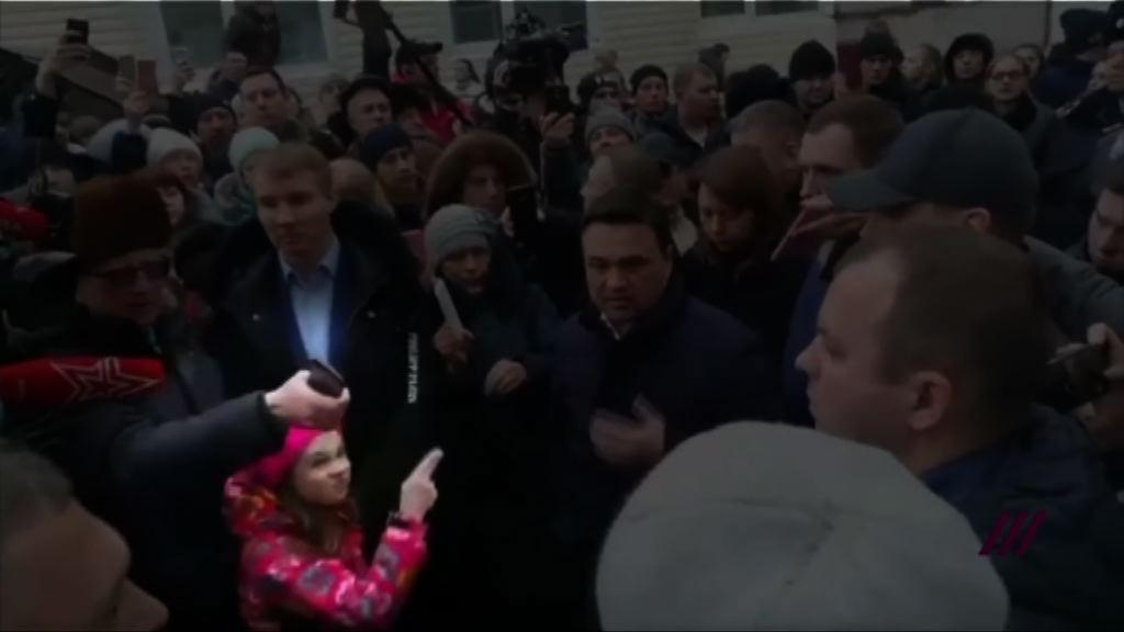 莫斯科示威 勇敢女童成網紅