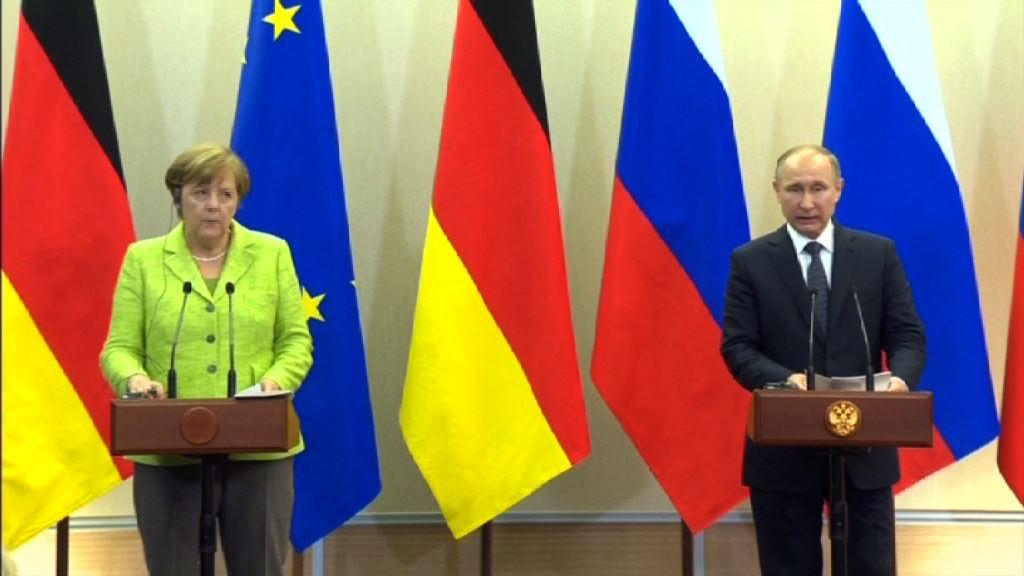 俄德領袖商烏克蘭及敘利亞局勢
