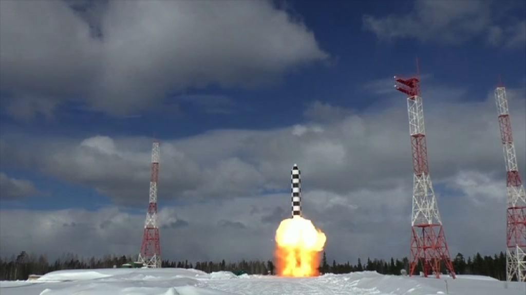 俄羅斯發放試射洲際導彈片段