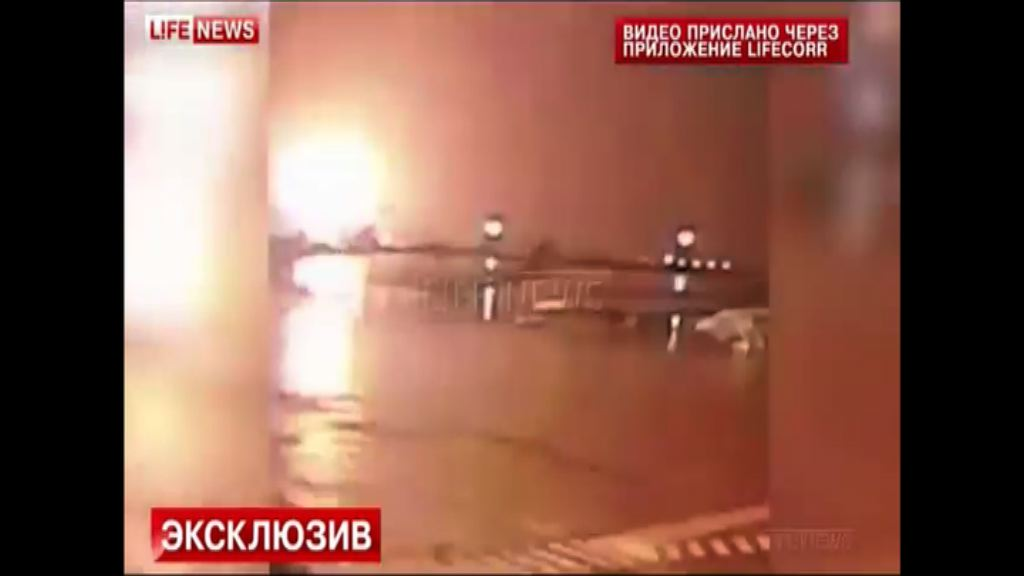 傳媒指迪拜航空客機墜毀前起火