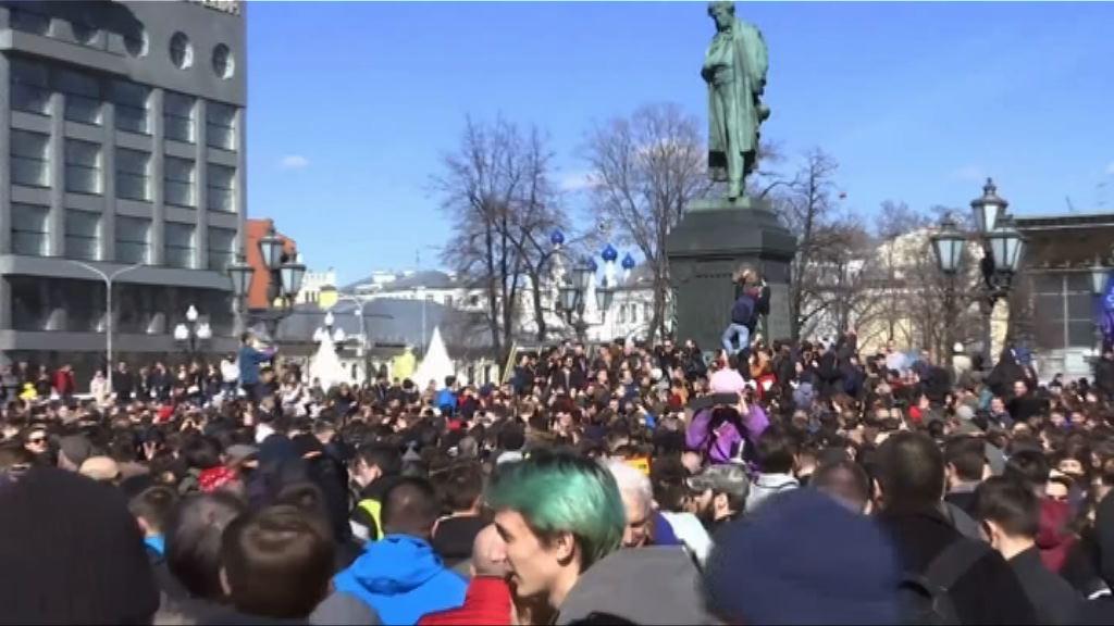 俄羅斯全國數萬人參與反政府示威