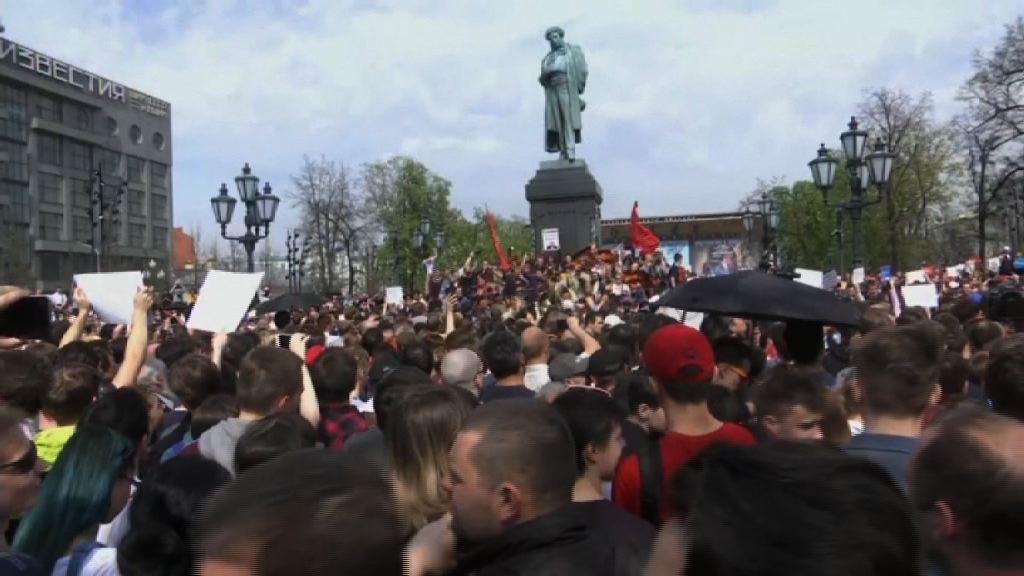 俄反對派發起全國反普京示威