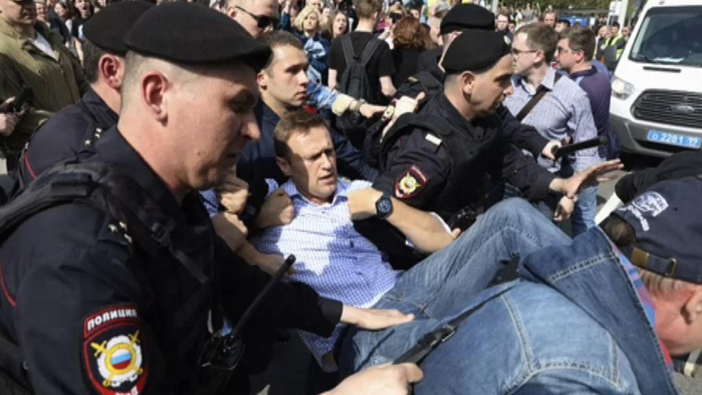 俄反對派發起反普京示威 警方扣押逾千人