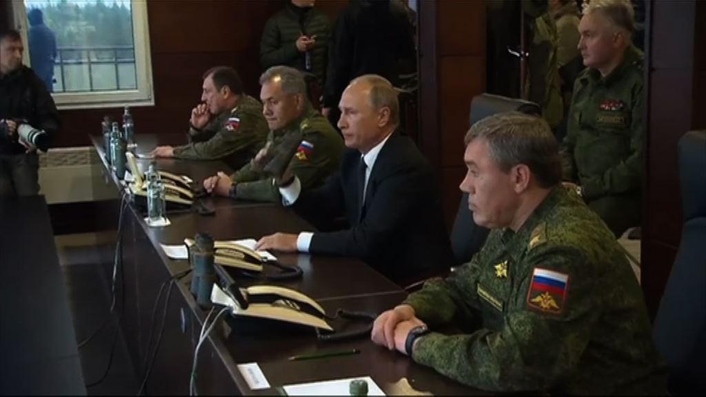 普京視察與白俄羅斯聯合軍演