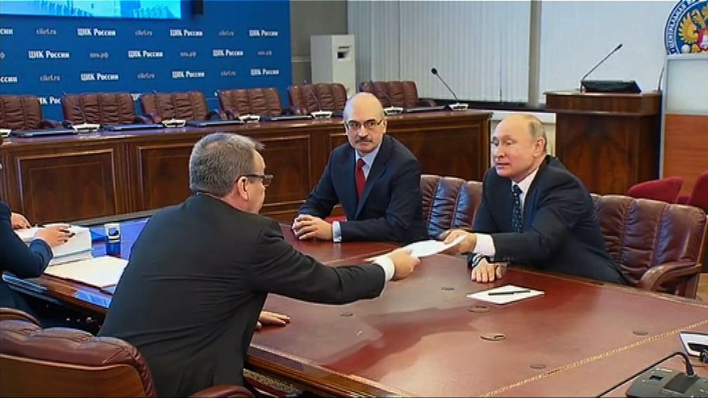 普京登記參與明年三月總統選舉