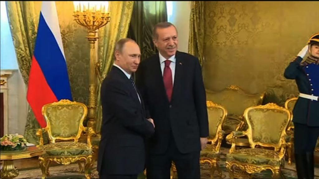 俄土領袖會面樂見關係改善