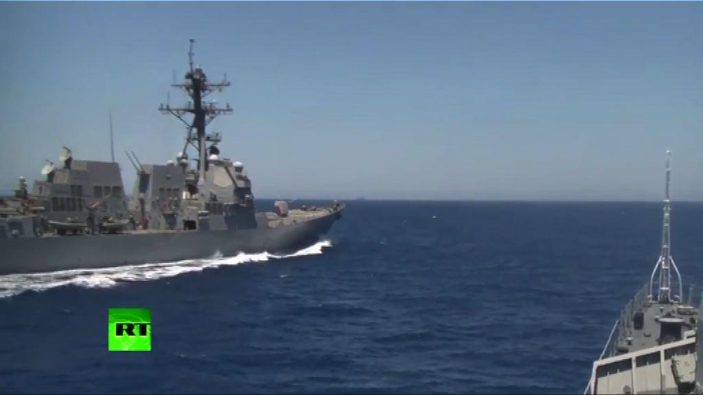 俄軍指美艦危險接近俄軍艦