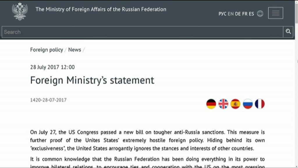 報復美國制裁 俄削美駐俄外交人員