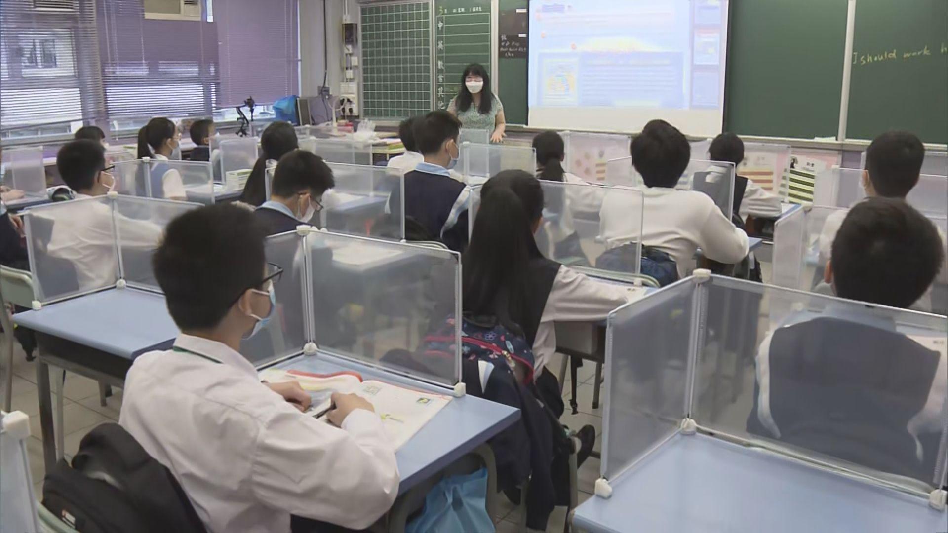 面授放寬至三分二學生 學校建議小息不進食