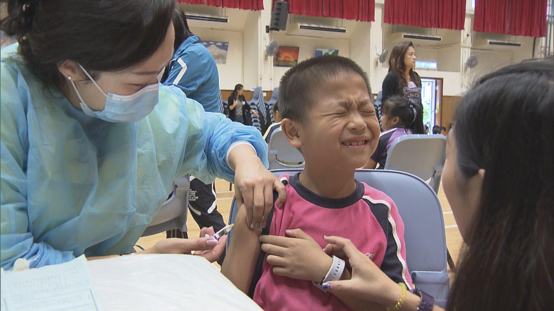 衞生署派外展隊到小學接種流感疫苗