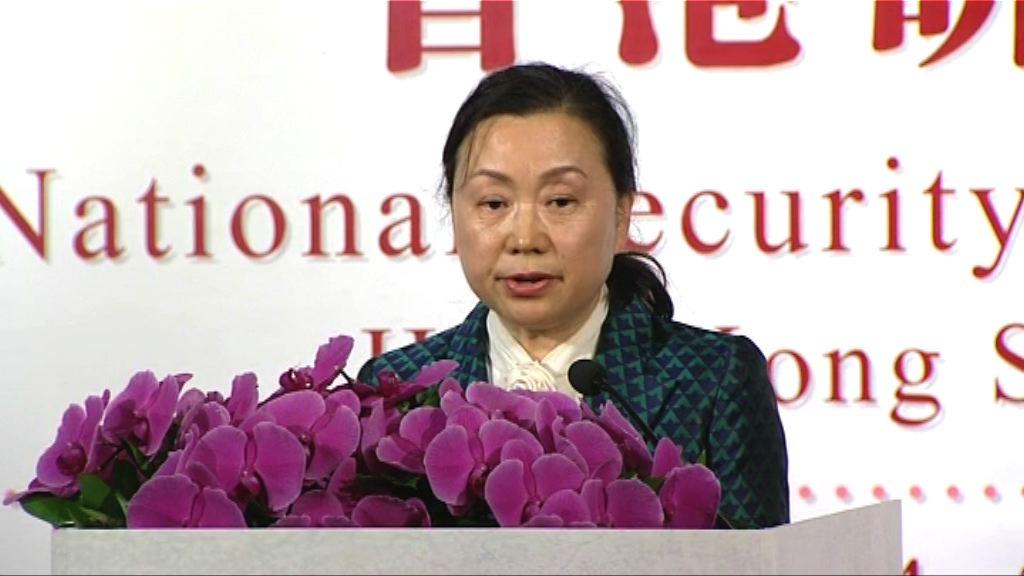 鄭淑娜:香港應自行立法維護國家安全